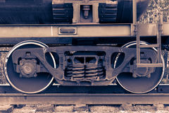 Pair of train wheels. Stock Photography