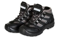 Pair of trekking shoes Royalty Free Stock Images