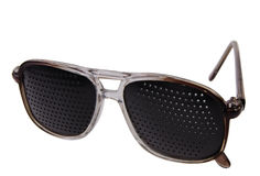 Pair of trendy dark glasses Stock Image