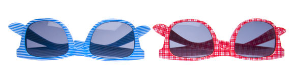 Pair of Trendy Hipster Sunglasses Royalty Free Stock Images