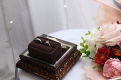 A pair of twin rings for a wedding