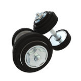 Pair of two metal dumbbells heavy and black Stock Photography