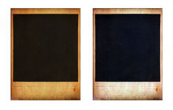 Pair of two old instant photo frames Stock Photography