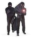 Pair of two robbers Stock Image