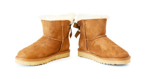 Pair of uggs with fur Stock Photo