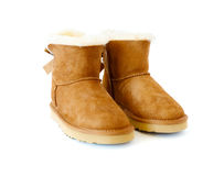 Pair of uggs with fur Royalty Free Stock Images