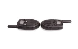 Pair of UHF handsets Stock Photos