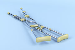Pair of underarm crutches Royalty Free Stock Image