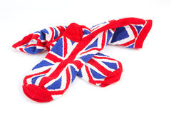 Pair of union jack socks Royalty Free Stock Images