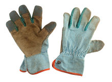 Pair of used working gloves Stock Photography