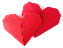 Pair valentine origami Royalty Free Stock Image