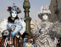 Pair from venice carnival royalty free stock photos