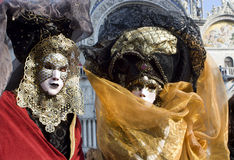Pair in venice - mask royalty free stock photos