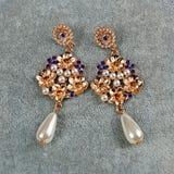 Pair of vintage earrings Stock Image