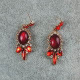 Pair of vintage earrings stock photo
