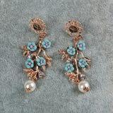 Pair of vintage earrings Stock Photos