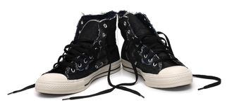 Pair of vintage styled sneakers Royalty Free Stock Photo