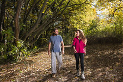 Pair walking Royalty Free Stock Image