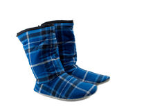 Pair of warm boots home Royalty Free Stock Photography