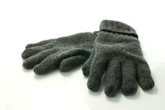 Pair of warm gloves stock photo