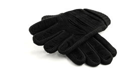 A pair warm gloves. Isolated Royalty Free Stock Photos