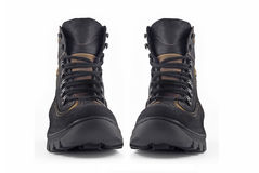 Pair of Warm leather boots Royalty Free Stock Images