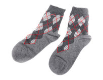 Pair of warm woolen socks. Royalty Free Stock Photo