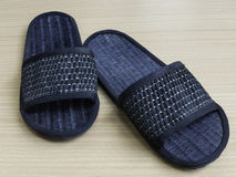 Pair of weaved slipper Stock Images