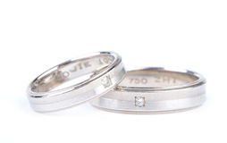 A pair of wedding bands Royalty Free Stock Photo