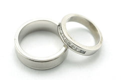 Pair of wedding bands Royalty Free Stock Photos