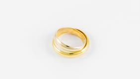 Pair wedding golden ring Stock Photos