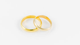 Pair wedding golden ring Royalty Free Stock Photography
