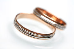 Pair wedding rings. Stock Images