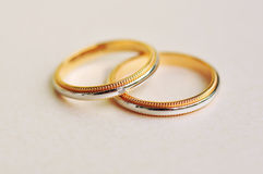 A Pair of Wedding Rings Royalty Free Stock Photography