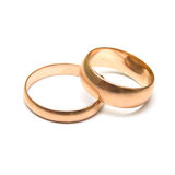 Pair wedding rings Stock Images