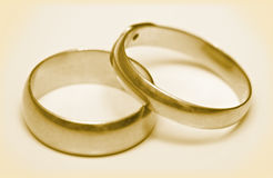 Pair wedding rings Royalty Free Stock Photo