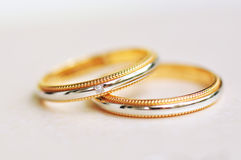 A Pair of Wedding Rings with background blurred Royalty Free Stock Photography