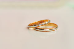 A Pair of Wedding Rings with background blurred 2 Stock Photography