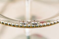 Pair Of Wedding Rings Stock Photos
