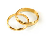Pair of wedding rings. Vector illustration,  on white background Royalty Free Stock Photos