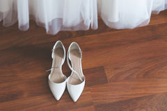Pair of wedding shoes Stock Images