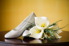 Pair of Wedding Shoes Stock Image