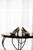 Pair of Wedding Shoes Royalty Free Stock Photography