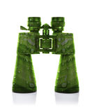 Pair of Wet Green Binoculars Stock Photo