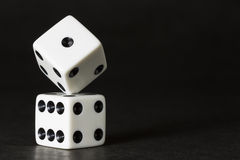 White Dice Formation Royalty Free Stock Photos