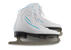Pair of white figure skates Royalty Free Stock Photos