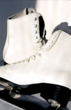 Pair of white ice skates Royalty Free Stock Photos