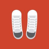 Pair of white shoes Stock Image
