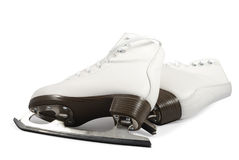 Pair Of White Skates Stock Photography
