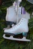 Pair of white skates Stock Images